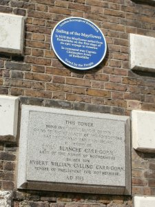 Rotherhithe Church, Mayflower plaque